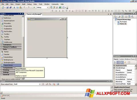 צילום מסך Microsoft Visual Studio Windows XP