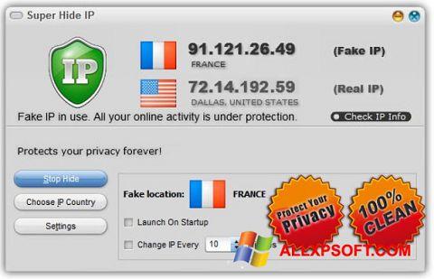 צילום מסך Super Hide IP Windows XP