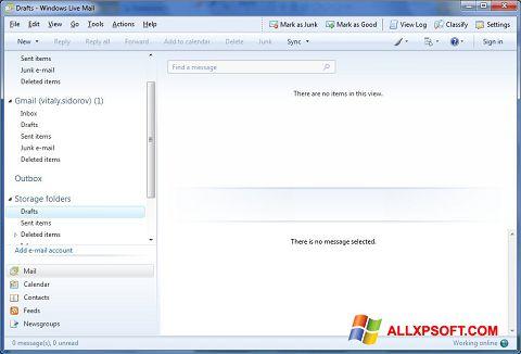 צילום מסך Windows Live Mail Windows XP