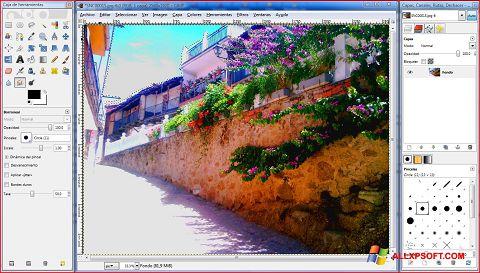 צילום מסך GIMP Windows XP