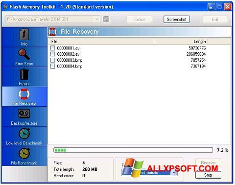 צילום מסך Flash Memory Toolkit Windows XP