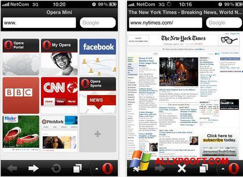 צילום מסך Opera Mini Windows XP