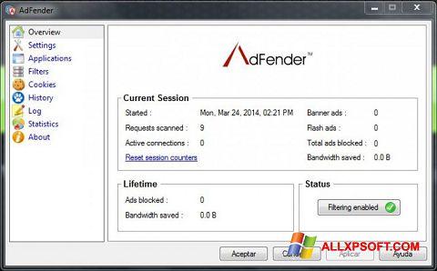 צילום מסך AdFender Windows XP