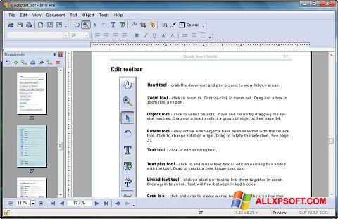 צילום מסך Infix PDF Editor Windows XP