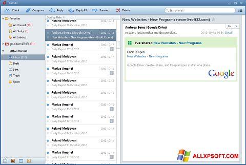 צילום מסך FoxMail Windows XP