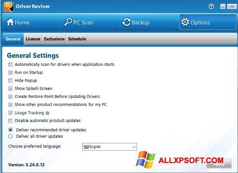 צילום מסך Driver Reviver Windows XP