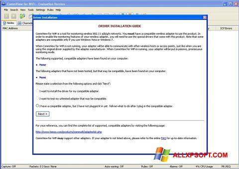 צילום מסך CommView for WiFi Windows XP