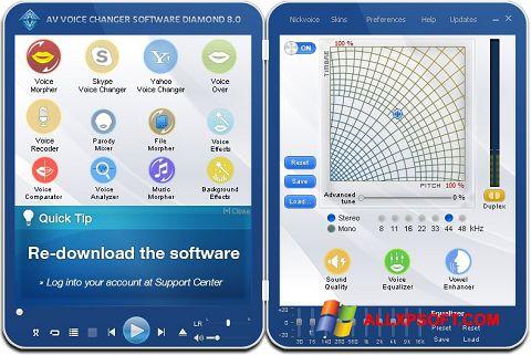 צילום מסך AV Voice Changer Diamond Windows XP