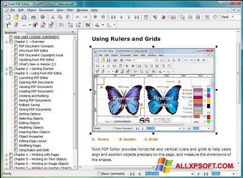 צילום מסך Foxit PDF Editor Windows XP