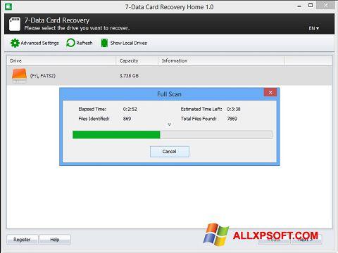 צילום מסך CardRecovery Windows XP