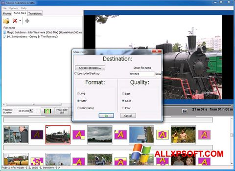 צילום מסך Bolide Slideshow Creator Windows XP