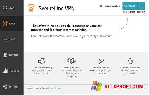 צילום מסך Avast SecureLine VPN Windows XP