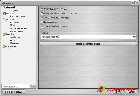 צילום מסך VSO Downloader Windows XP
