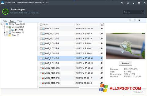 צילום מסך USB Flash Drive Recovery Windows XP