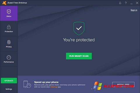 צילום מסך Avast Free Antivirus Windows XP
