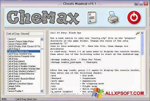צילום מסך CheMax Windows XP