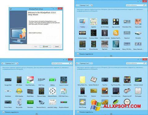 צילום מסך 8GadgetPack Windows XP