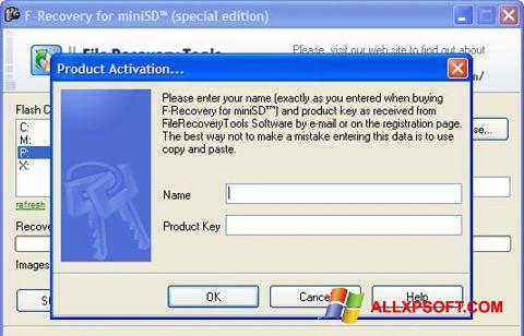 צילום מסך F-Recovery SD Windows XP