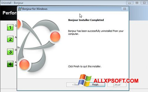 צילום מסך Bonjour Windows XP