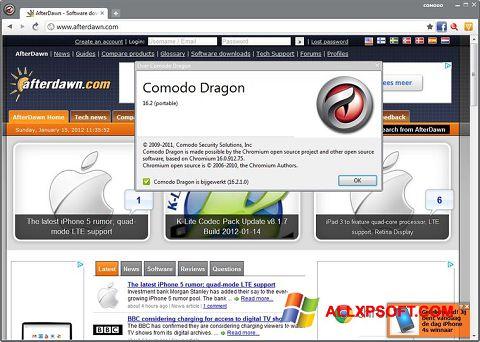 צילום מסך Comodo Dragon Windows XP