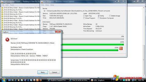 צילום מסך ImgBurn Windows XP