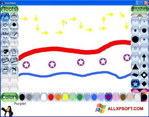 צילום מסך Tux Paint Windows XP