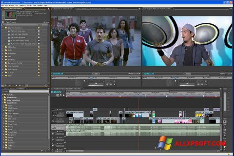 צילום מסך Adobe Premiere Pro Windows XP