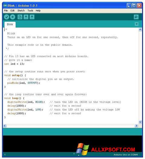 צילום מסך Arduino Windows XP