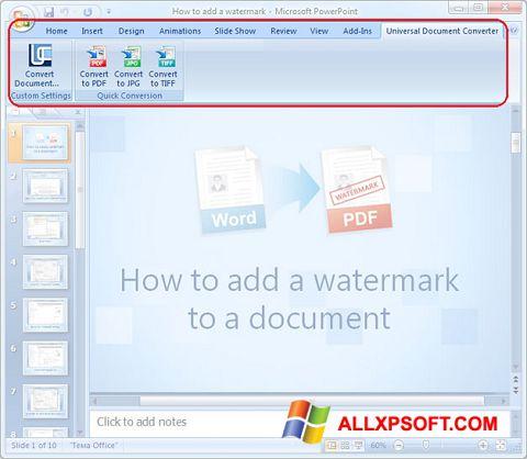צילום מסך Microsoft PowerPoint Windows XP
