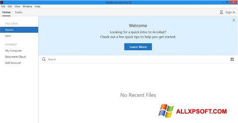 צילום מסך Adobe Acrobat Pro DC Windows XP