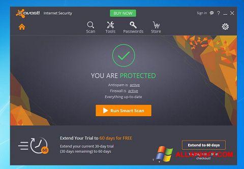 צילום מסך Avast Internet Security Windows XP