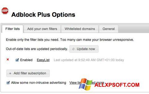 צילום מסך Adblock Plus Windows XP