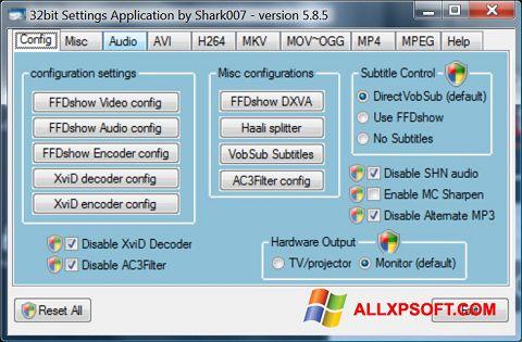 צילום מסך Vista Codec Package Windows XP