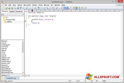 צילום מסך EditPlus Windows XP