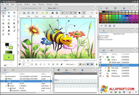 צילום מסך Synfig Studio Windows XP