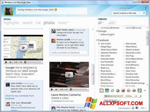 צילום מסך Windows Live Messenger Windows XP