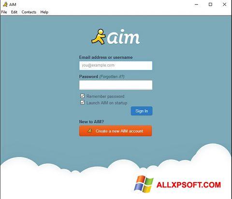 צילום מסך AOL Instant Messenger Windows XP