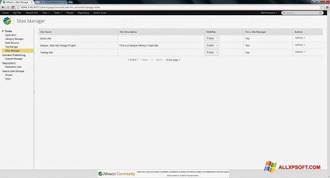 צילום מסך Alfresco Windows XP