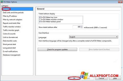 צילום מסך DU Meter Windows XP