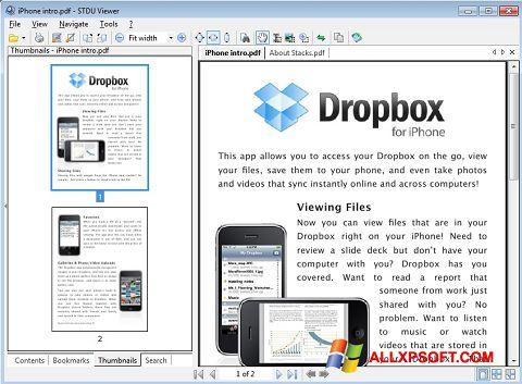 צילום מסך STDU Viewer Windows XP