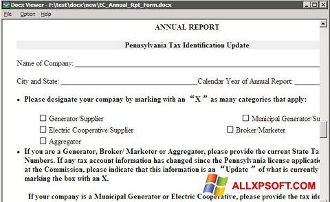 צילום מסך DocX Viewer Windows XP