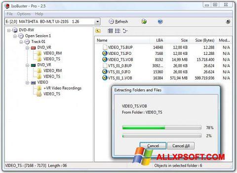 צילום מסך IsoBuster Windows XP