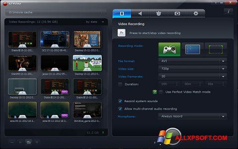 צילום מסך Action! Windows XP