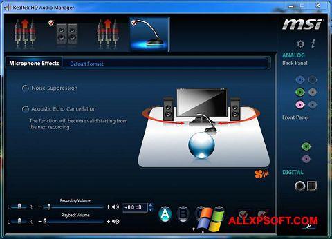 צילום מסך Realtek Audio Driver Windows XP