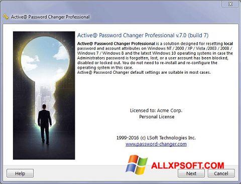 צילום מסך Active Password Changer Windows XP