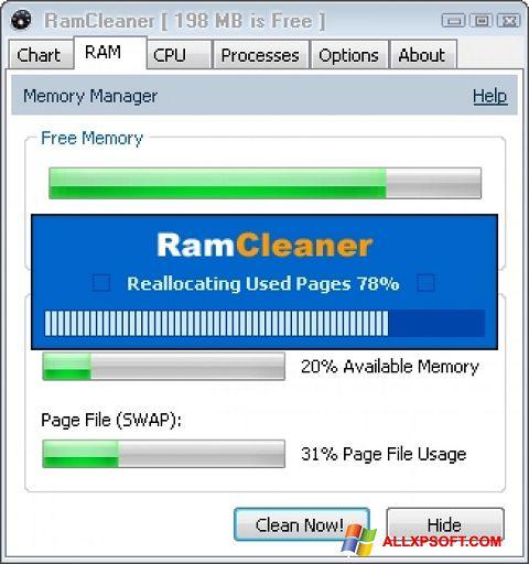 צילום מסך RamCleaner Windows XP