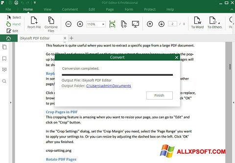 צילום מסך PDF Editor Windows XP