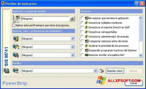 צילום מסך PowerStrip Windows XP
