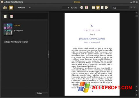 צילום מסך Adobe Digital Editions Windows XP