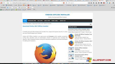 צילום מסך Mozilla Firefox Offline Installer Windows XP